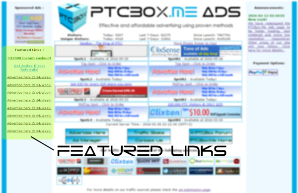 PTCBox.Me Featured Links Position