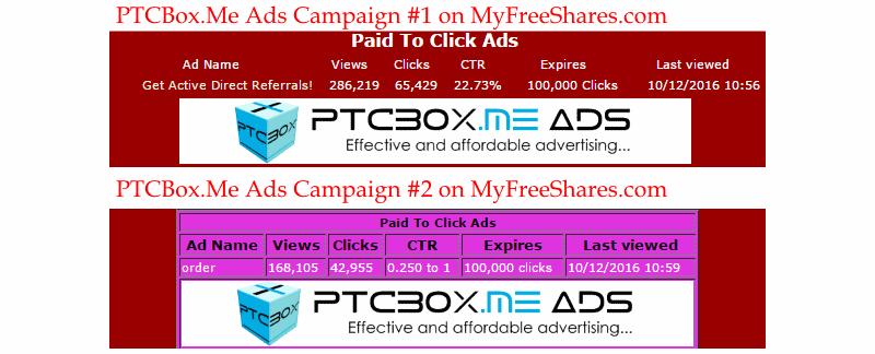 Advertise on MyFreeShares